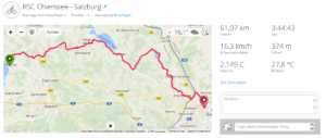 Chiemsee nach Salzburg